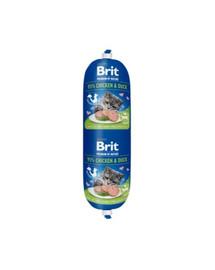 BRIT Cat sausage kura a kačica 180 g