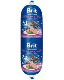 BRIT Cat sausage kura a morka 180 g