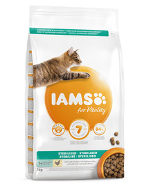 IAMS For Vitality Adult sterilised Chicken 3 kg