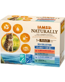 IAMS Naturally Cat Adult Sea Collection 12 x 85 g
