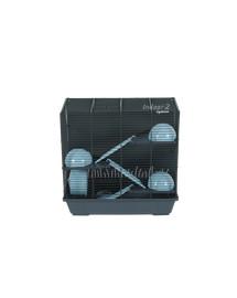 ZOLUX Klietka pre škrečka INDOOR 2 50cm Triplex modrá/šedá s výbavou