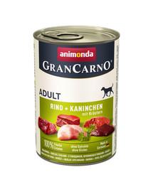 ANIMONDA Grancarno králik/bylinky konzerva 400 g