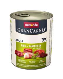 ANIMONDA GranCarno Adult králik, bylinky 800 g