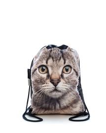 FERA Batoh s motívom sivej mačky