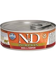 FARMINA N&D Pumpkin & quail konzerva pre mačky - prepelica a tekvica  80 g