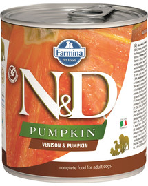 FARMINA N&D Pumpkin konzerva pre psa - zverina a tekvica 285 g