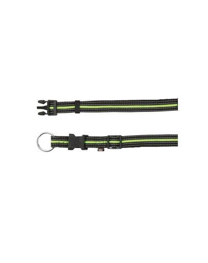 TRIXIE Obojok M - L 35-55 cm / 20 mm čierno / zelený