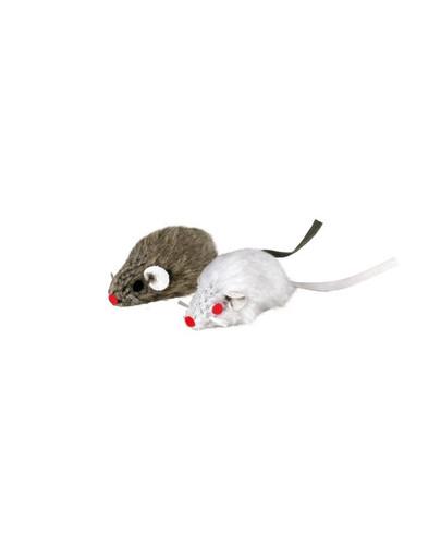 TRIXIE Myš šedá so zvončekom
