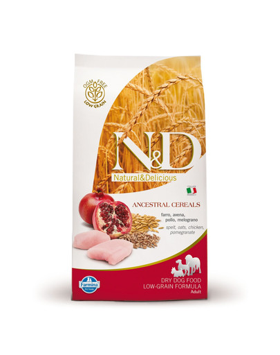 N&D Low Grain Dog Adult Medium & Maxi Chicken & Pomegranate 2,5kg