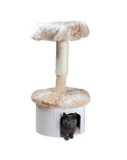 """TRIXIE Škrabadlo pre mačky  """"Meru"""", 98 cm, škvrnité biele / béžové"""