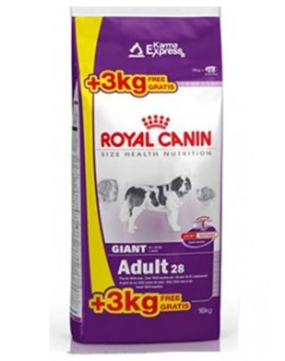 ROYAL CANIN Giant adult 15 kg + 3 kg gratis