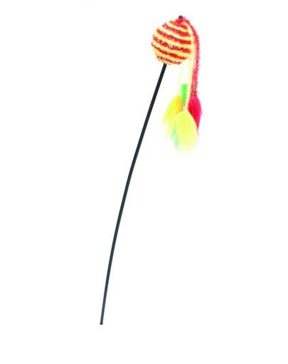 COMFY Udička s loptičkou žlto-červené 65