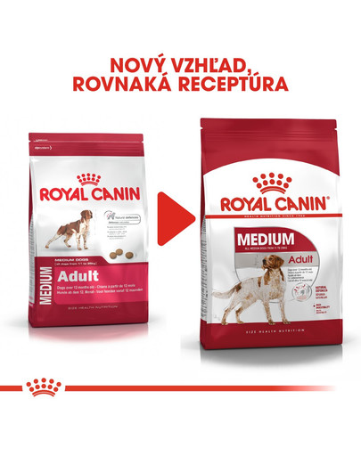 ROYAL CANIN Medium Adult  15kg granule pre dospelé stredné psy