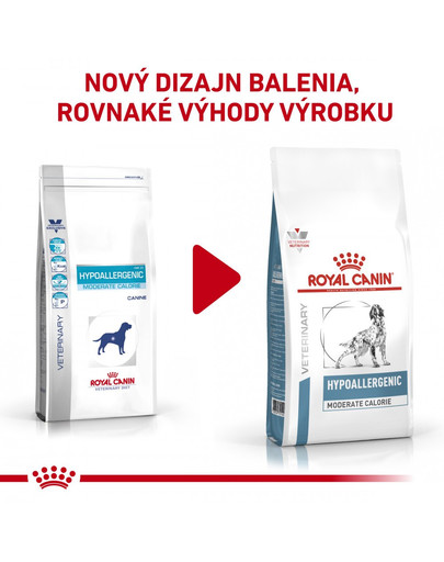 ROYAL CANIN Dog Veterinary Health Nutrition Dog Hypoallergenic Moderate Calorie 14 kg