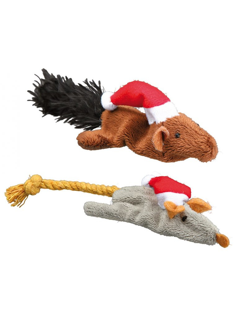 TRIXIE Sada vianočných hračiek - myš a veverička 14-17 cm 8 ks   balík ... 284bf12fed6